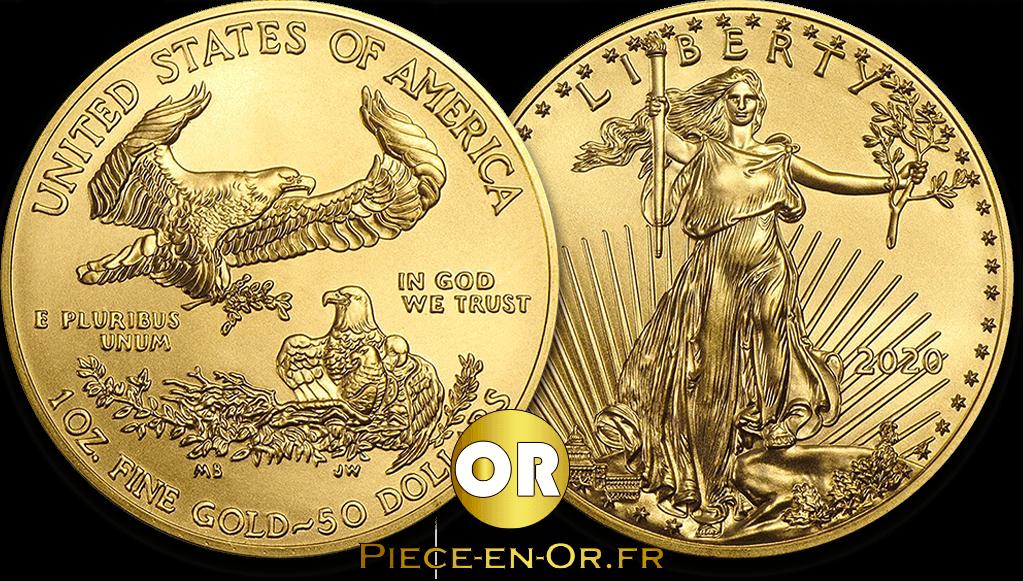 Pièce or Moderne American Eagle